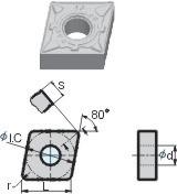金属陶瓷刀片-CNMG120408-DF-YNG151
