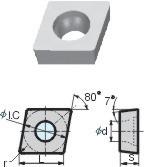 金属陶瓷刀片-CCMW060204-YNG051