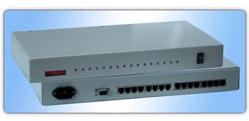 8116(集成17路RS-232隔离集线器)