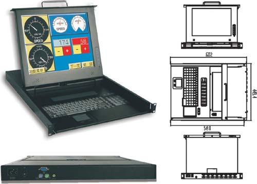 KVM-1710工业液晶多功能共享切换器