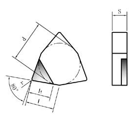 德国威士PCD刀片-WNGX-N中性方向型
