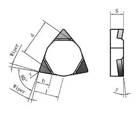 CBN刀片-WNGX-N多刃正前角修光刃型
