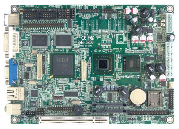 华北工控板载Atom N270处理器5.25寸嵌入式工业主板