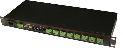 双光纤至八路RS422/485隔离集线器[YZ3528]