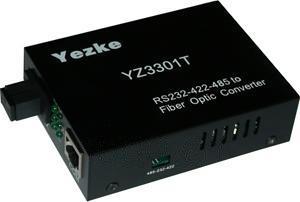 RS-232/422/485至单模单纤转换器[YZ3301T]