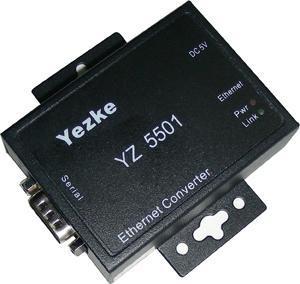 一路RS-232/422/485到TCP/IP转换器[YZ5501]