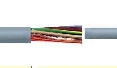 彩色芯线标识连接和控制电缆缆普特制PVC混合材料P8/1,测试电压4kV