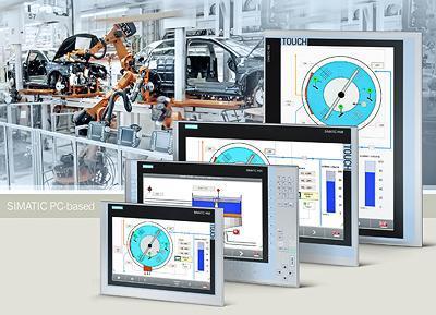 西门子配有宽屏工业监视器和瘦客户端